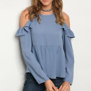 Le Lis Tops - 3 FOR $30 • NEW Ruffle Sleeve Cold-Shoulder Top